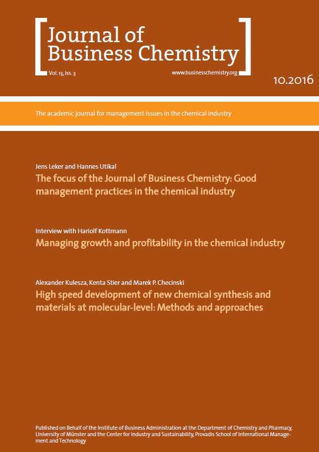 Journal of Business Chemistry October 2016