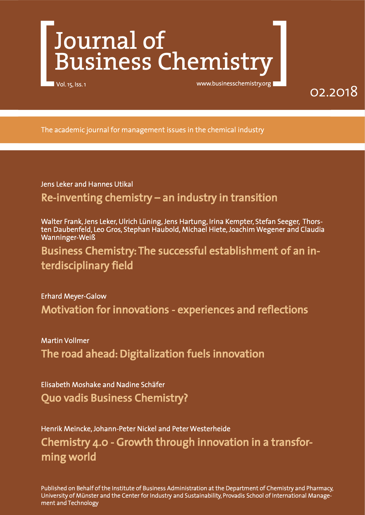 Journal of Business Chemistry February 2018