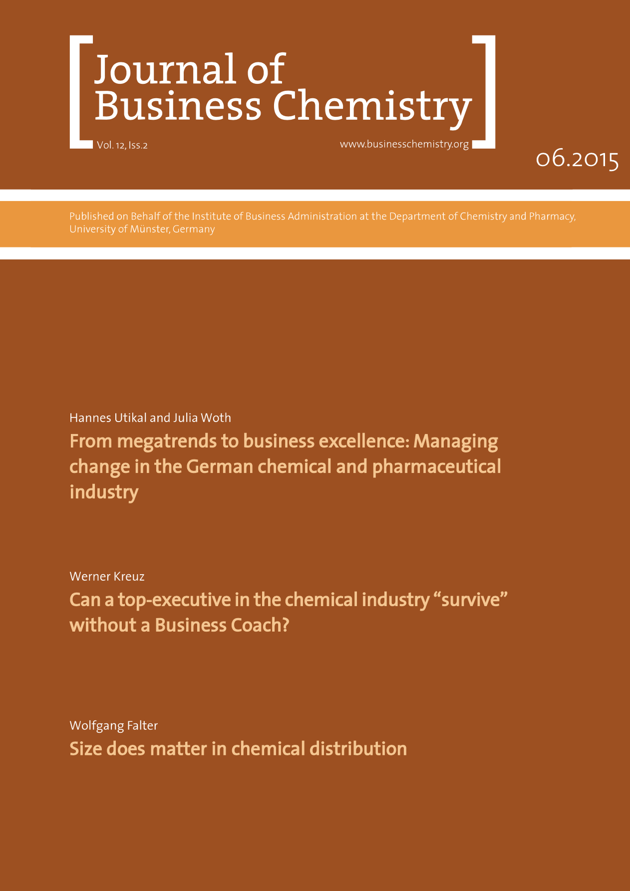Journal of Business Chemistry June 2015