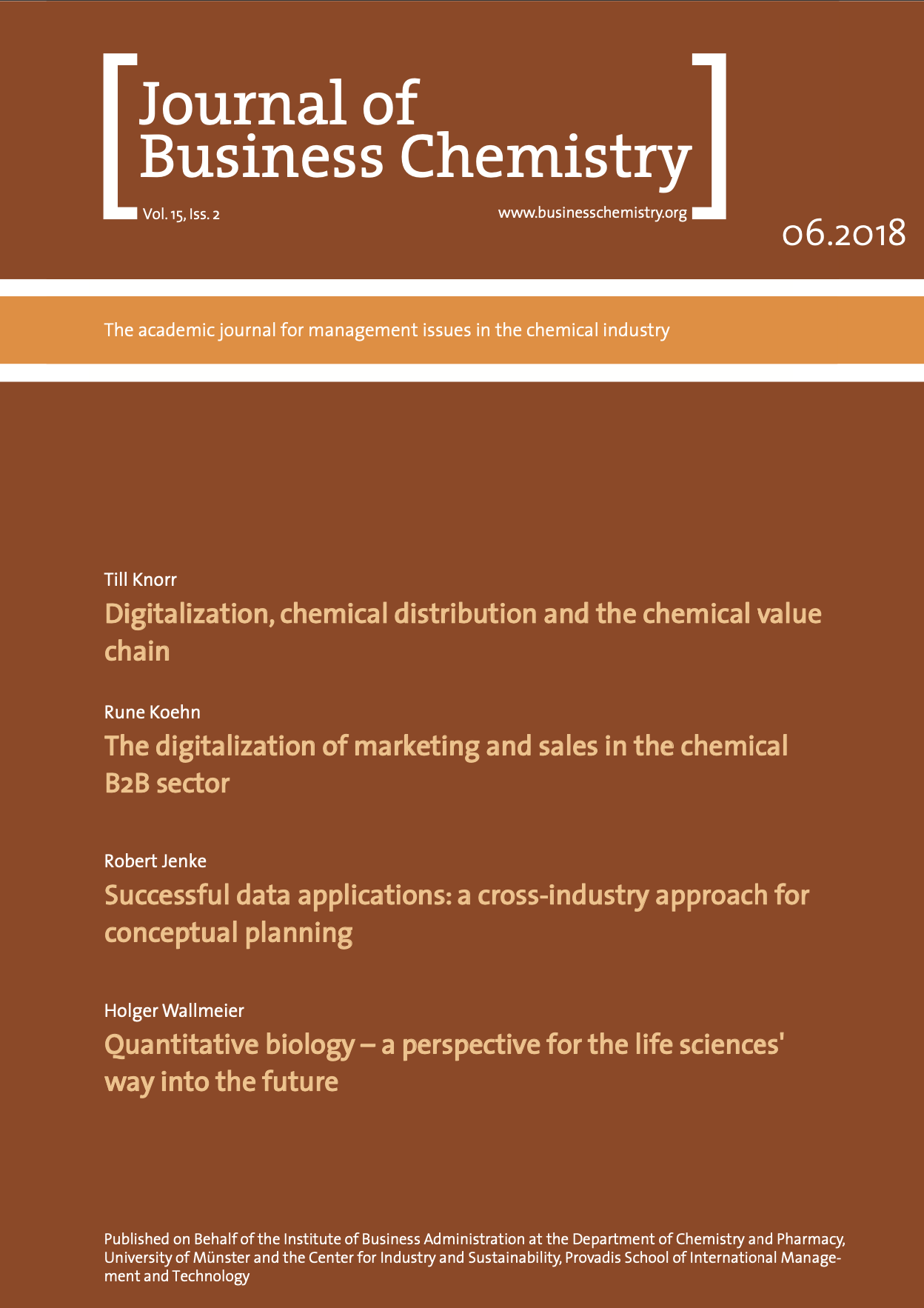 Journal of Business Chemistry June 2018