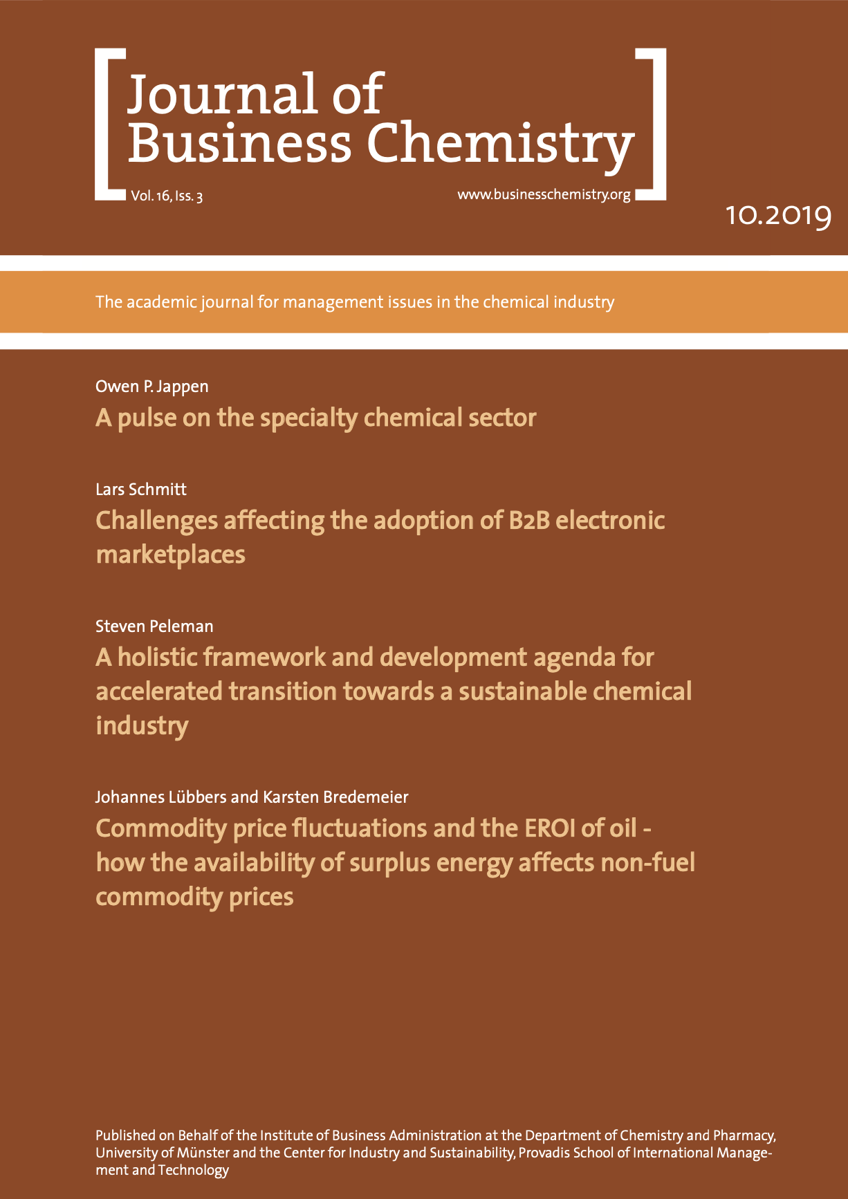 Journal of Business Chemistry October 2019