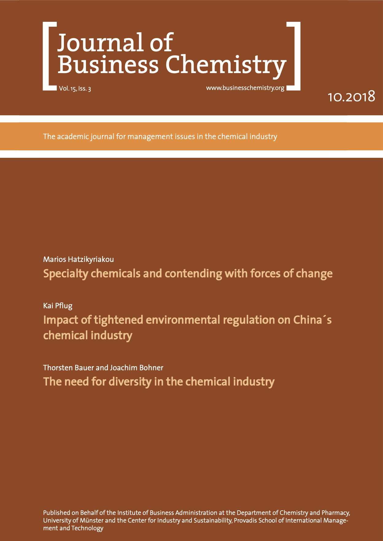 Journal of Business Chemistry October 2018