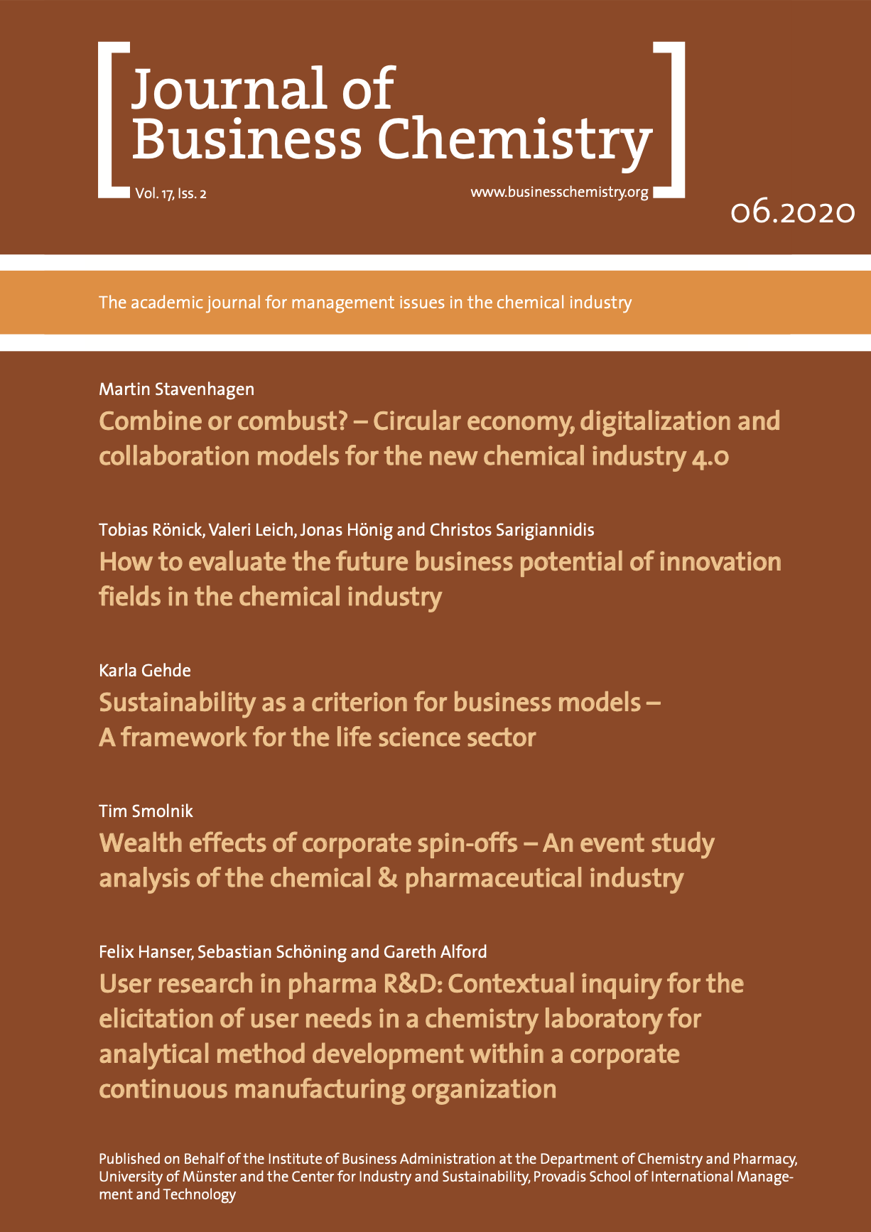 Journal of Business Chemistry June 2020