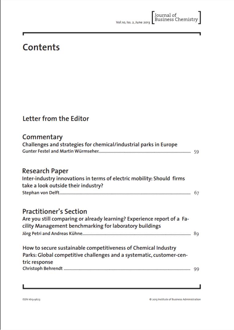 Journal of Business Chemistry June 2013